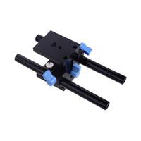 Wholesale Dslr Rig Follow - New Rail Slider System 15mm Rod Rig Grundplatte Mount for DSLR Camera Follow Focus Rig 5D2 5D3 D1319