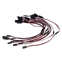 Wholesale Extension Y - Universal RC Part 10Pcs 30cm Servo Connector Cable Y Extension Lead Wire for Futaba JR Servo Part RM1038