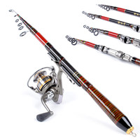 Wholesale Heavy Lures - Telescopic Carbon Fiber Carp Fishing Rod Travel Spinning Lure Sea Rod Raft Pole Tackle Tool 1.2 1.4 1.8 2.1M H11592 H11593 H11594 H11595
