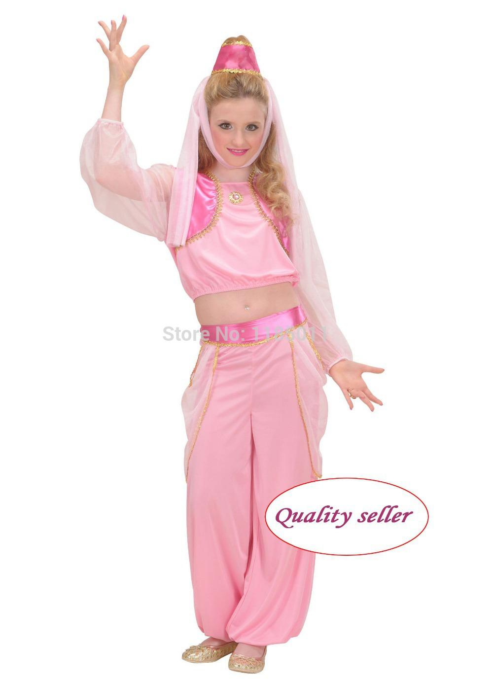 Mascot Genie From The L& Costume Satin Dress Pretty Fantasia Girl Carnival Halloween Costume For Kids Children Cosplay Costumes Funny Halloween Costumes ...  sc 1 st  DHgate.com & Mascot Genie From The Lamp Costume Satin Dress Pretty Fantasia Girl ...