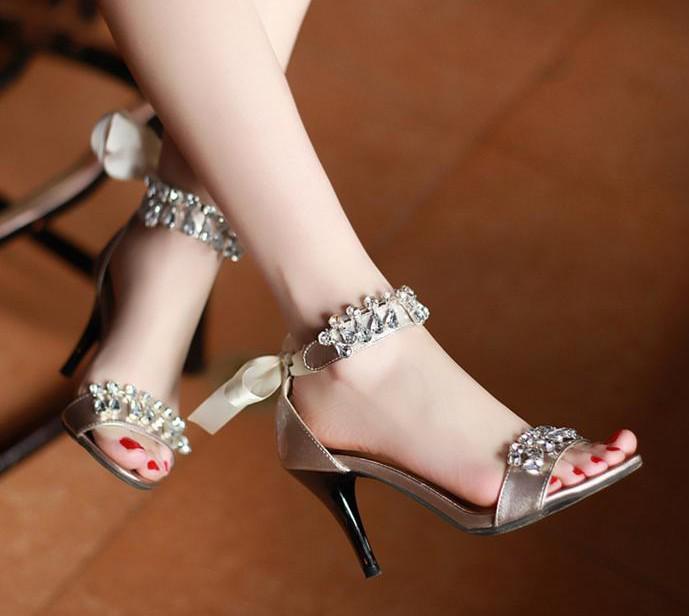 Black Gold Silver Fashion 2014 Ladies Sandals For Women