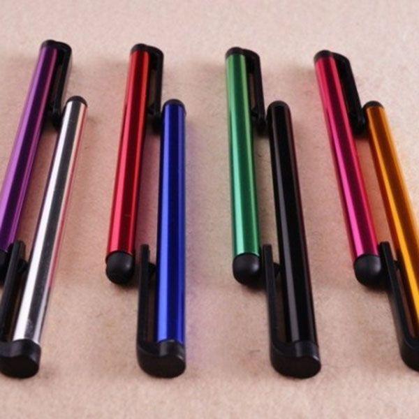 Atacado 1000 PÇS / LOTE Universal Caneta Stylus Capacitiva para Iphone5 5S 6 6 s 7 7 mais Touch Pen para Celular Para Tablet Cores Diferentes