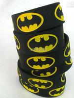 pulseiras de silicone preto venda por atacado-Venda quente pulseira BATMAN, banda larga, pulseira de silicone, cor preta, adulto, 120 pçs / lote, frete grátis