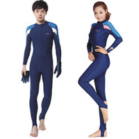 Wholesale Full Diving Suit - New Men&Women Lycra Stinger Suit with Full Diving Suit Dive Skins Jump Suit UV Protection Coral Wetsuit Swimwear Long Sleeve