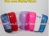 Wholesale Galaxy Ace S Line - For Samsung Galaxy Ace style G310 Young 2 G130 Young S6310 S line Wave soft clear crystal Gel TPU Silicone skin case cover cases 10PCS 20PCS