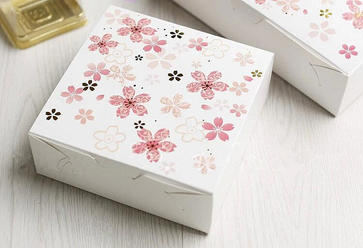 Cheap Small Pink Sakura Decoration Paper Box Cake Packaging Dessert Supply Favors Wedding Candy Boxes Cookie Packing