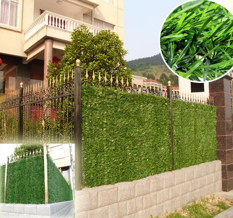 2018 hot sgs certificate artificial grass fence for Outdoor wall coverings garden