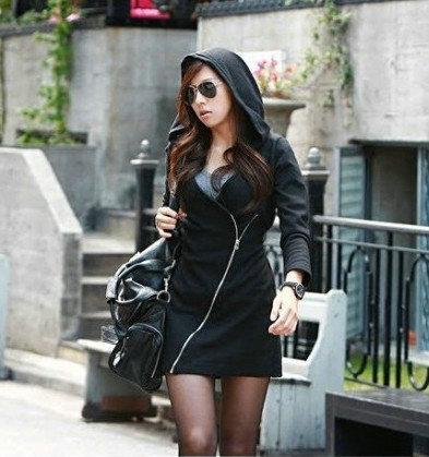 2014 Neue Ankunft Hoodies Jacken Herbst Winter Zipper Sweatshirts Mode Frauen Mantel Koreanische Beiläufige Damen Mit Kapuze Mantel Hoody Kleidung W31