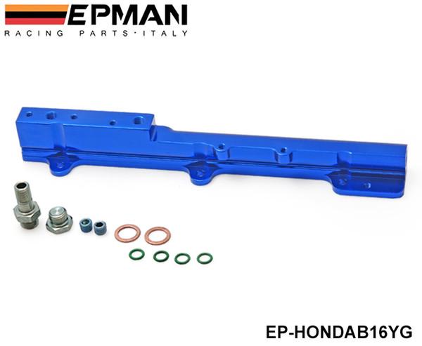 top popular Tansky - Aluminum FUEL INJECTOR RAIL BLUE Fit For Honda Civic Si B16A B16A1 B16A2 B16A3 EP-HONDAB16YG 2021