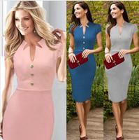 Wholesale Boutique Women S Dresses - Kate Middleton Gray Blue Pink Cotton Blened Elegant Royal Dress Women dress boutiques shopping online