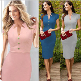 Wholesale Cotton Shorts Online - Kate Middleton Gray Blue Pink Cotton Blened Elegant Royal Dress Women dress boutiques shopping online