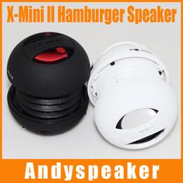 Wholesale Hamburger Capsule Mini Speaker - 500pcs X-Mini II Capsule Speaker Outdoor Speakers X-Mini Speakers Diminutive Subwoofer Portable Loudspeaker Hamburger Speakers Top quality