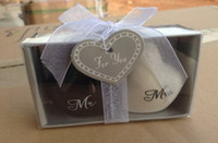 "Wholesale Mr Salt Pepper - Heart shaped Wedding Favor Gifts Heart shaped ""Mr.& Ms."" Salt Pepper Shaker 2pcs=1set"