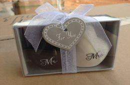 "Wholesale Shaker Pepper - Heart shaped Wedding Favor Gifts Heart shaped ""Mr.& Ms."" Salt Pepper Shaker 2pcs=1set"