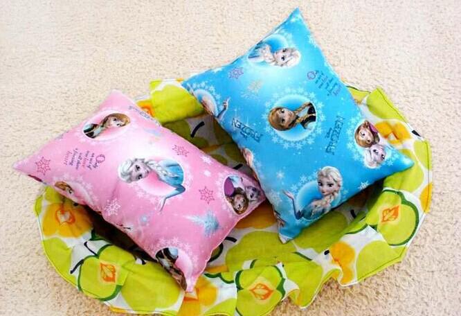 2 x Frozen Bead Cushion Cover Home Head Back Neck Support Pillow Elsa Anna