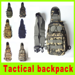 Wholesale Hockey Gear Bag - High quality Tactical Molle Utility Gear Shoulder Sling Bag camouflage Chest bag camping outdoor gear Chest bag gift A256L