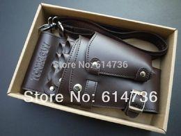 Canada Gros-Professional PU Cuir Rivet Clips Sac Salon Ciseaux Coiffure Étui Pochette Titulaire supplier leather scissors Offre