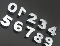 encantos de cromo al por mayor-Comercio al por mayor 100 unids / lote 10 mm Chrome 0-9 número diapositiva encanto diy accesorios del alfabeto