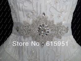 Luxury Rhinestone Beaded Wedding Dress Canada - New Free Shipping 2014 New Fashion Luxury Beads Rhinestone Crystal Wedding Sashes Bridal Belts For Wedding Dresses