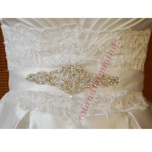 ¡Barato! 2019 Shining Shining Bridal Sashes Crystals Beadings Preciosos Cinturones de Boda Accesorios nupciales