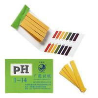 ph gösterge şeritleri toptan satış-80 Şeritler Tam Aralık pH Alkali Asit 1-14 Test Göstergesi Kağıt Litmus Test Ücretsiz Kargo
