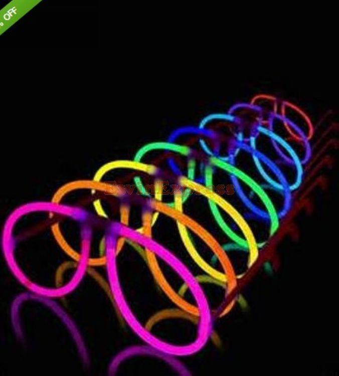 Otros suministros para fiestas de eventos 50X Glow Stick Eye Glasses Assort Color Light Up Party Costume Eyeglasses Envío gratis