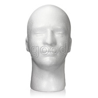 Wholesale Mannequin Head Hat Stand - Free Shipping Male Men Foam Styrofoam Display Head Mannequin Stand Manikin Model Glasses Wig Hat Show Plus Size