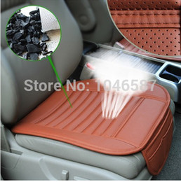 Wholesale Cooling Car Summer Seat Cushion - Wholesale-Summer car seat cushion cool bamboo charcoal Set Sylphy fox lavida excelle baolai soar team jetta Octavia car seat covers