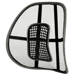 Wholesale Chair Seat Pad Black - Wholesale-Free Shipping New Car Seat Chair Massage Back Lumbar Support Mesh Ventilate Cushion Pad Black,Mesh Back Lumbar Cushion wholesale