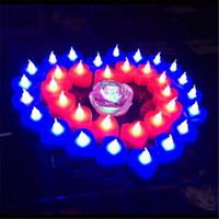 Wholesale Heart Tea Light Candles - LED Tea Candles LED Night Light Flickering Flameless Tea Light Battery Operated LED Candle Light Wedding Birthday Party Christmas Decoration