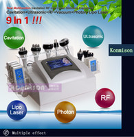 Wholesale 9 in Multifunctional Laser Lipolysis Body Slimming Beauty Machine With K Ultrasound Cavitation Vacuum RF System for Personal and Salon