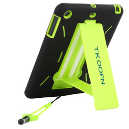 Wholesale protective hard case tablet - TKOOFN Heavy Duty Hybrid Shockproof Case Silicone Tablet PC & Hard Protector with Kick Stand for Apple iPad Mini PT760x