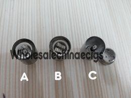 núcleo de metal de vidro de cera Desconto Globo de vidro Dual Wax Coil cabeça Destacável Clearomizer bobina de cera núcleo Ego Cigarro Eletrônico Substituição De Metal Vaso Bowling ATOMIZER