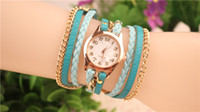 Hot Selling Women Wrap Watches Lady Leather Wrist Watches Ro...