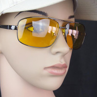 Wholesale Safety Goggles Free Shipping - Wholesale-Brand New HQ Night Driving Glasses Anti Glare Vision Driver Safety Sunglasses UV 400 Protective Goggles Free Shipping no track