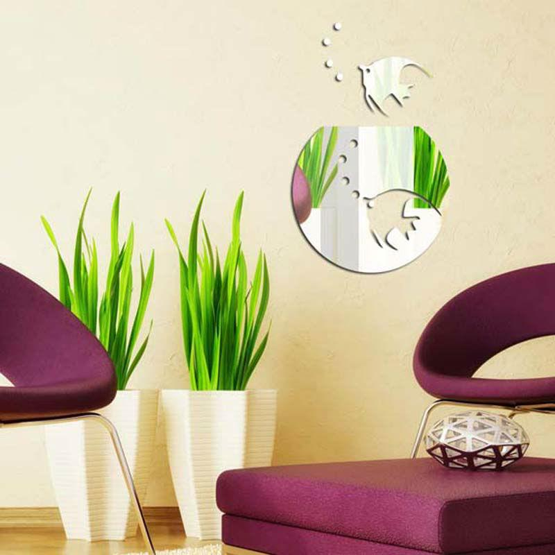 Tropical Fish Mirror Wall Sticker Wall Decoration Decal 1mm Thick Ps ...