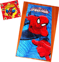 Wholesale Bath Drops - 9%off!in stock!Cartoon!60*120cm, cotton!Spider-Man Children's bath towel! Beach towel! Bathrobe! Bathrobes!DROP SHIPPING!hot!5pcs lot,LY