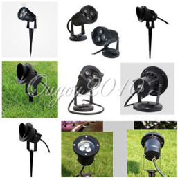 Wholesale LED Floodlight Garden Spotlight Outdoor Waterproof IP67 W W Landscape Wall Yard Path Pond LED Lawn Bulb Rod Base V V V By DHL