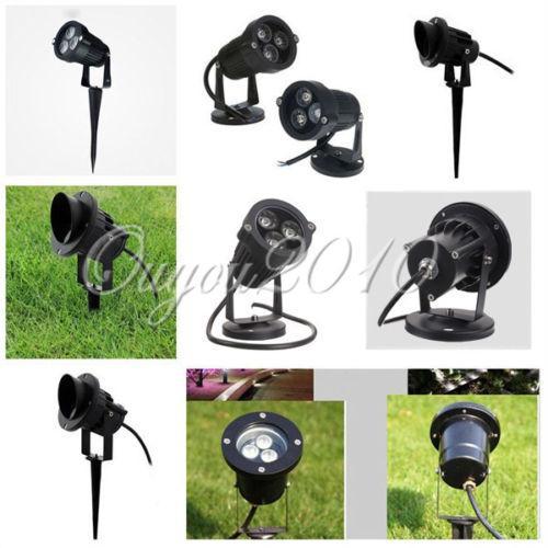 Luces LED para jardín al aire libre a prueba de agua IP67 6W 10W Paisaje Pared Patio Reflector Trayectoria Estanque LED Césped Bulbo Base de barra 110V - 240V 12V Por DHL