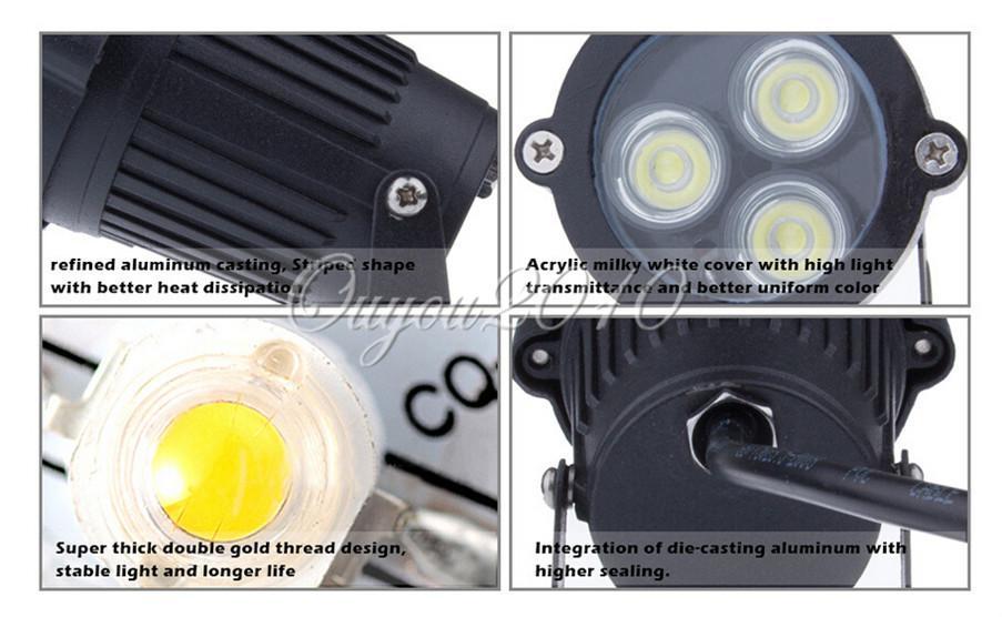 LED Flutscheinwerfer Gartenleuchte Outdoor Wasserdicht IP67 6W / 10W Landschaftswand Hofweg Teich LED Rasenlampe Mit Stabsockel 110V - 240V 12V