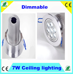 Wholesale Office Spot Lights - 7W led ceiling light Dimmable 7W 630Lm spot light for home office warm cold white LED ceiling downlight lamp 110V 220V CE RoHS SAA