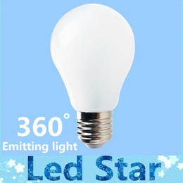 Wholesale E27 5w Bulb - Brand New 9W 7W 5W 3W E27 Led Lights Globe Lamp CRI>88 360 Degree Angle High Bright Led Bulbs Light AC 85-265V