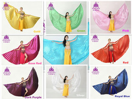 Wholesale White Belly Dance Costumes - Retail Wholesale Egyptian Egypt Belly Dance Dancing Costume Isis Wings Dance Wear Wing Belly Dance Cloth 11 Colors