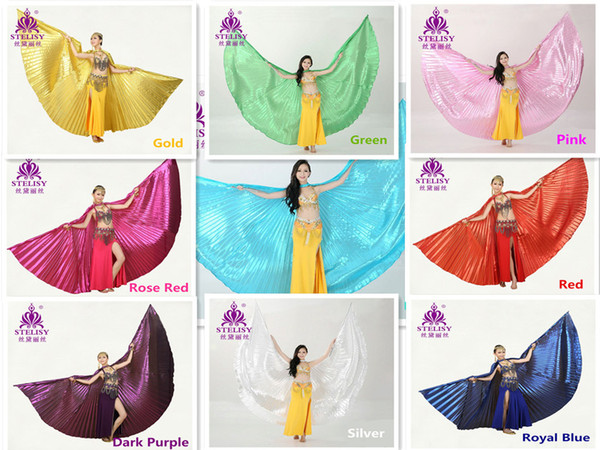 best selling Retail Wholesale Egyptian Egypt Belly Dance Dancing Costume Isis Wings Dance Wear Wing Belly Dance Cloth 11 Colors