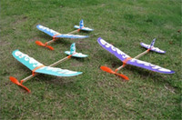 Wholesale Toy Airplane Rubber Band - Thunderbird rubber band powered model airplane aircraft DIY stereoscopic science toy airplane model aircraft free shipping