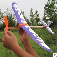 flugzeugmodelle geben verschiffen frei großhandel-Neues Thunderbird Gummiband trieb vorbildliches Flugzeugflugzeug DIY an stereoskopisches Wissenschaftsspielzeugflugzeug-vorbildliches Flugzeug freies Verschiffen