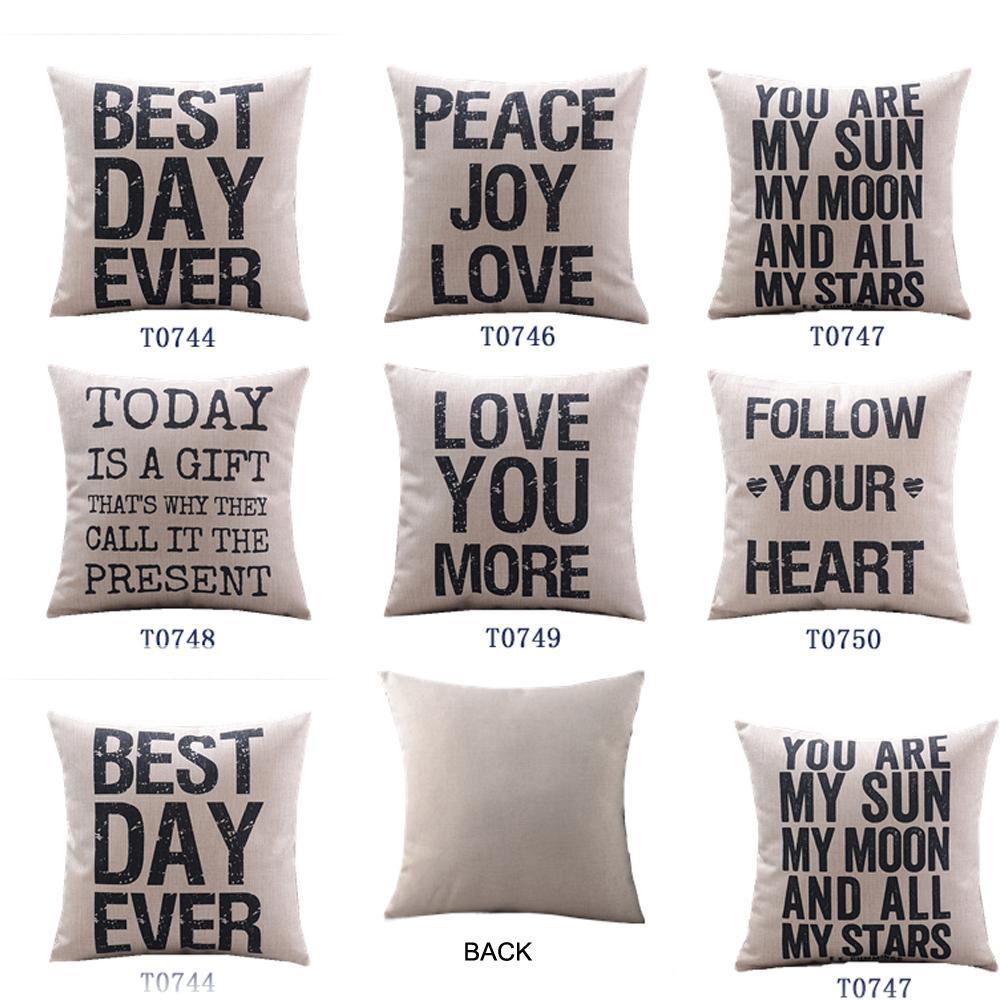 Cotton Linen Cushion Cover Home Decor Plus