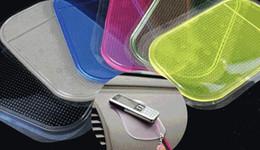 Vente en gros Silice Gel Magic Sticky Tapis antidérapant antidérapant antidérapant pour téléphone PDA MP3 MP4 GPS Couleur mixte