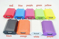 Wholesale Iphone3g Charger - 300pcs lot, only EU USB Wall Charger 5V 1A Travel Charger AC Adapter For iPhone3G 3GS 4G 4S 10 Colors avaiable, Free DHL Fedex