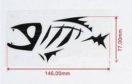 (100 шт. /лот) скелет племенной рыбы винил пропуск наклейку Байдарка Рыбалка автомобиль грузовик лодка наклейки для авто грузовик
